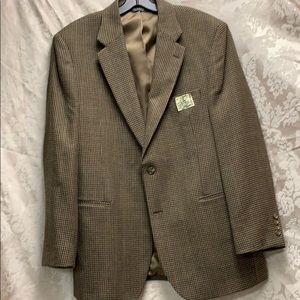 Jos. A. Bank 43R Wool Houndstooth Check and Plaid